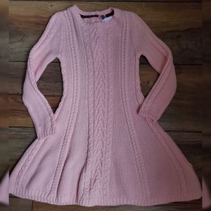 Tommy Bahama Size 3T Pink Cable Knit Sweater Dress